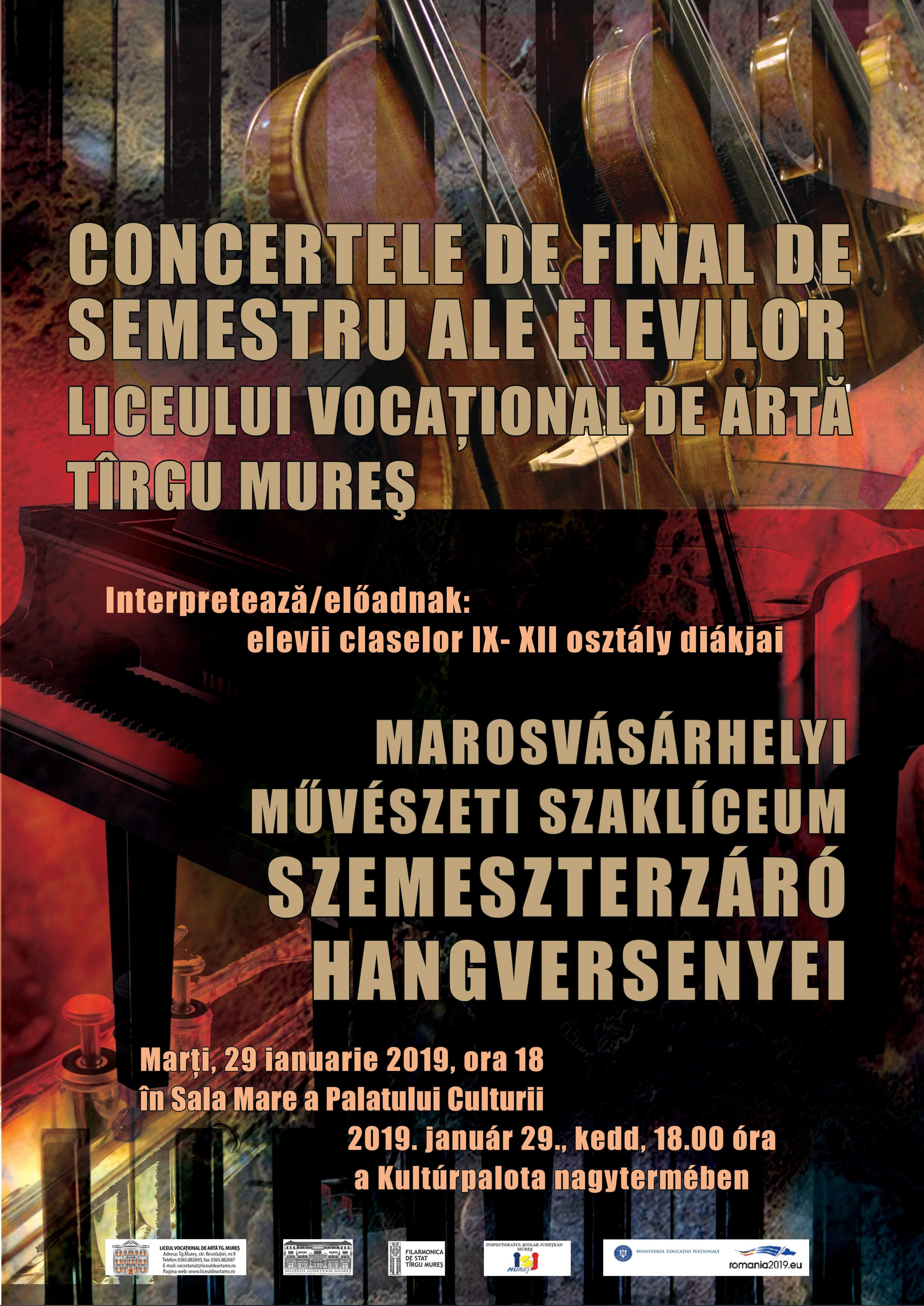 Concertele de final de semestru ale elevilor